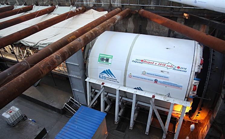 ВНижнем Новгороде началась проходка 2-го тоннеля станции «Стрелка»