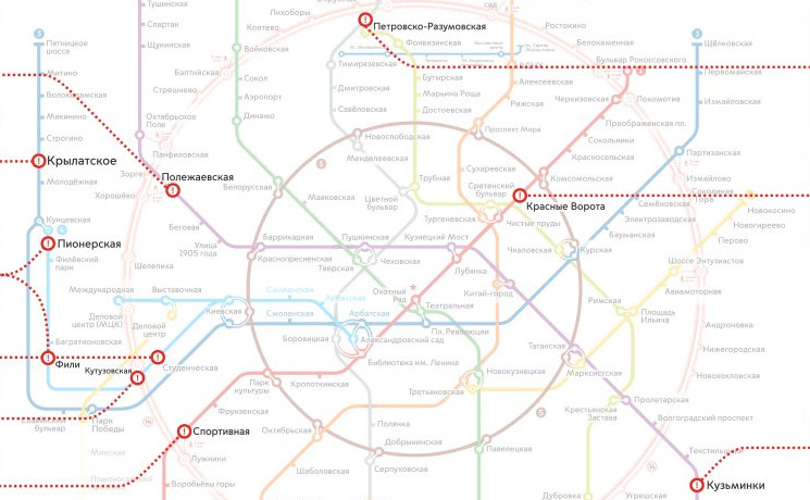 В российской столице  до27февраля закроются вестибюли 3-х  станций метро
