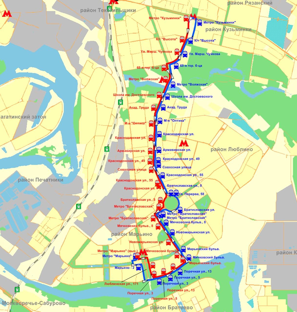 воздействие автобус от ул братиславской до метро марьино Данилы Козловского Большая