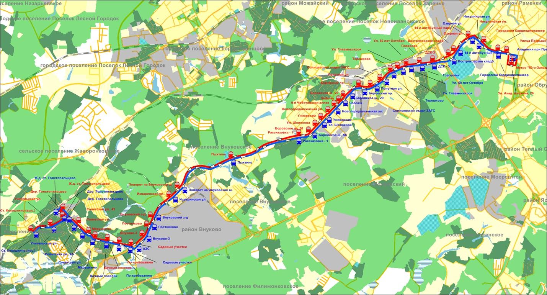 Схема маршрута 550 омск