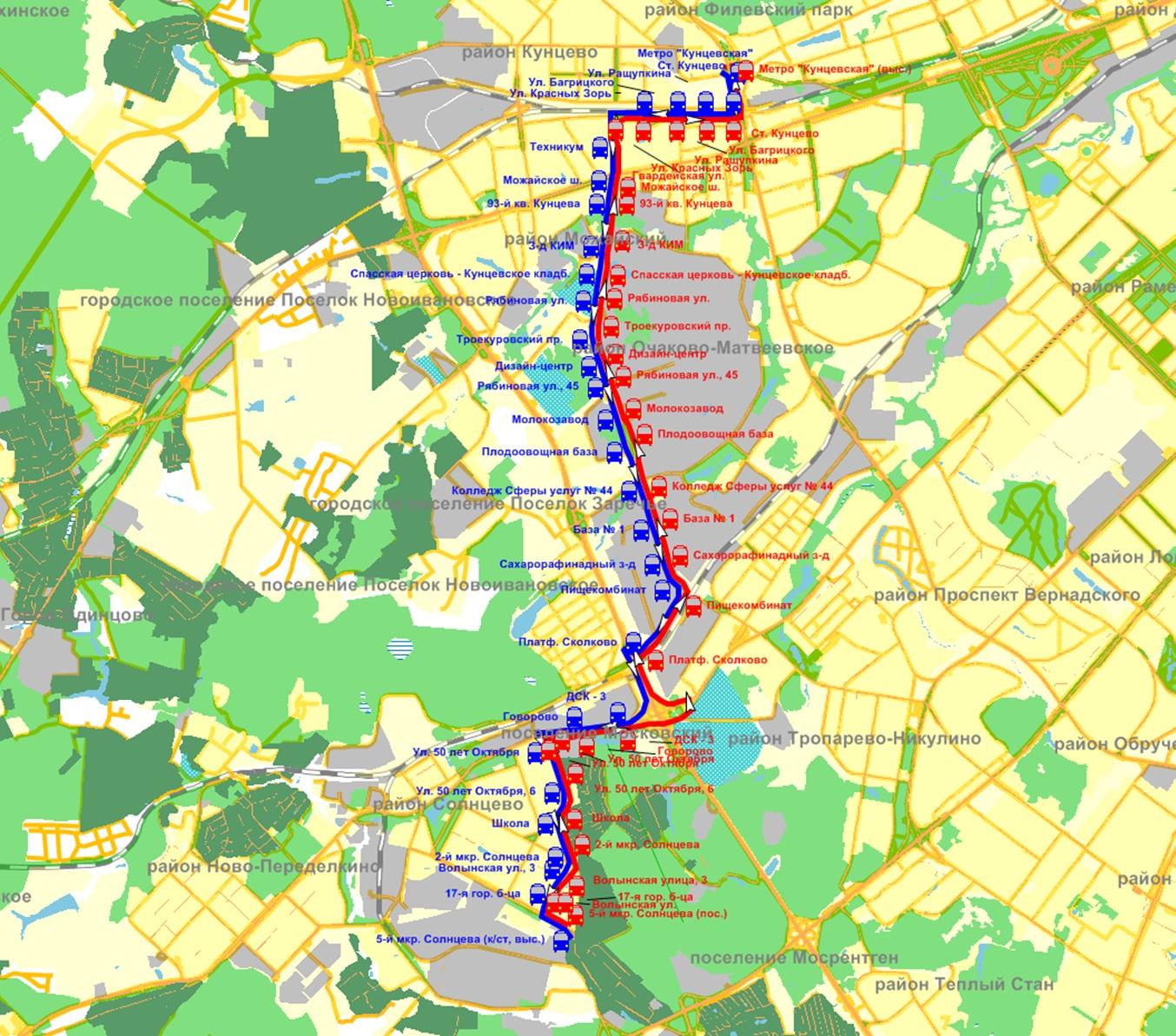 схема маршрута маршрутки 179 москва