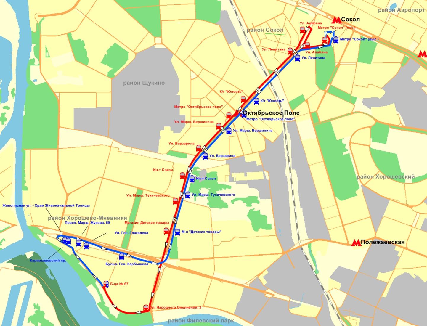 Калуга маршрут 80 схема