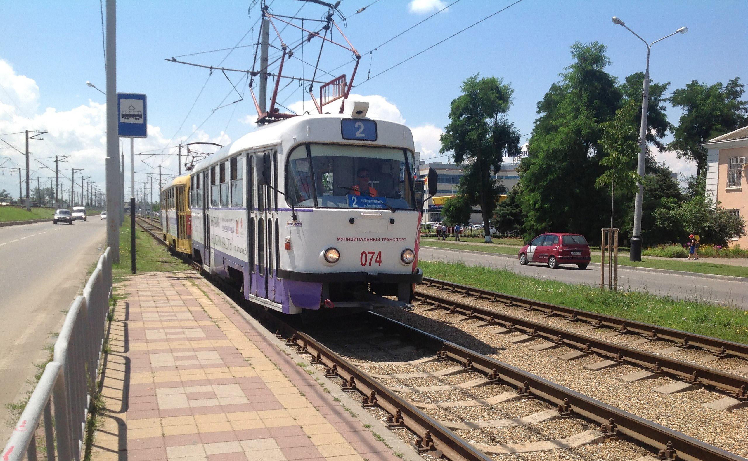 схема движения 15 трамвая в краснодаре