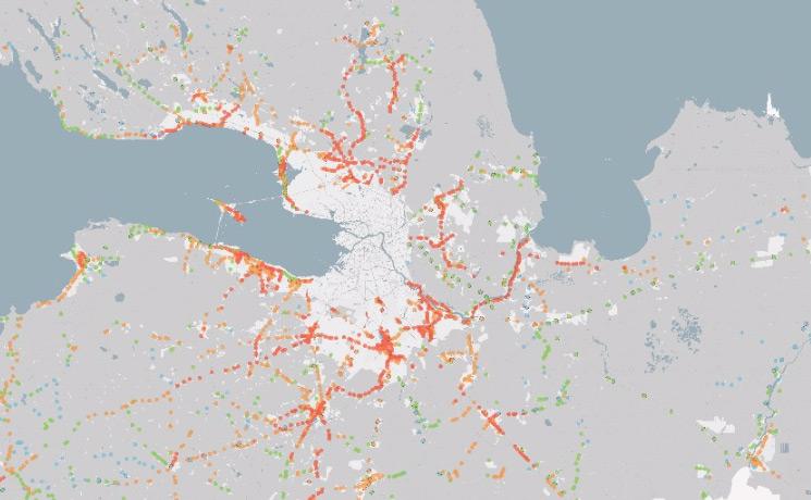 Схема транспортного сообщения Ленинградской области